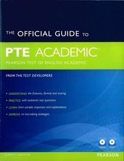 The Official Guide To PTE Academic : Pearson : Free
