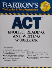 Cover of: Barron's ACT English, reading, and writing workbook | Linda Carnevale
