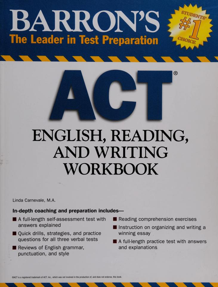 Barron's ACT English, reading, and writing workbook by Linda Carnevale