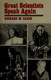 Cover of: Great scientists speak again | Richard Marshall Eakin