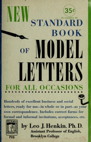 Cover of: New standard book of model letters for all occasions   Leo Justin Henkin