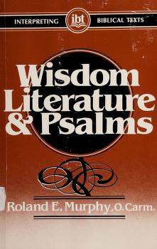 Cover of: Wisdom literature and Psalms | Roland E. Murphy